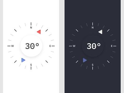 Compass app ui illustration