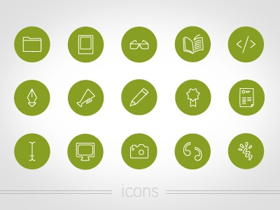 Icons green wire illustration icons simple