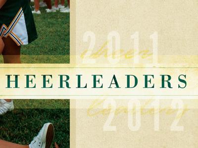 Cheerleaders Program Ad script texture typography