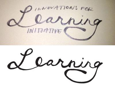 Learning Dribbble handwritten script
