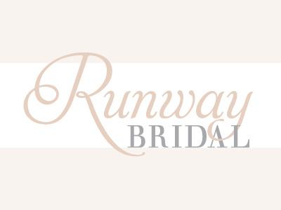Runway Bridal pink gray grey logo hair stylist feminine aphrodite script