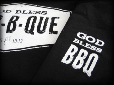 God Bless BBQ shirts black white bbq