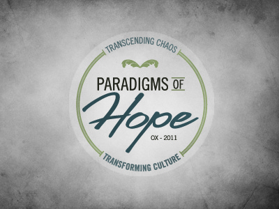 Paradigms blue green texture circle logo