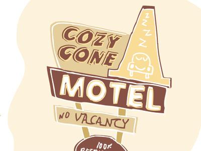 Cozy Cone Illo disney orange cars motel california adventure cars land cozy cone