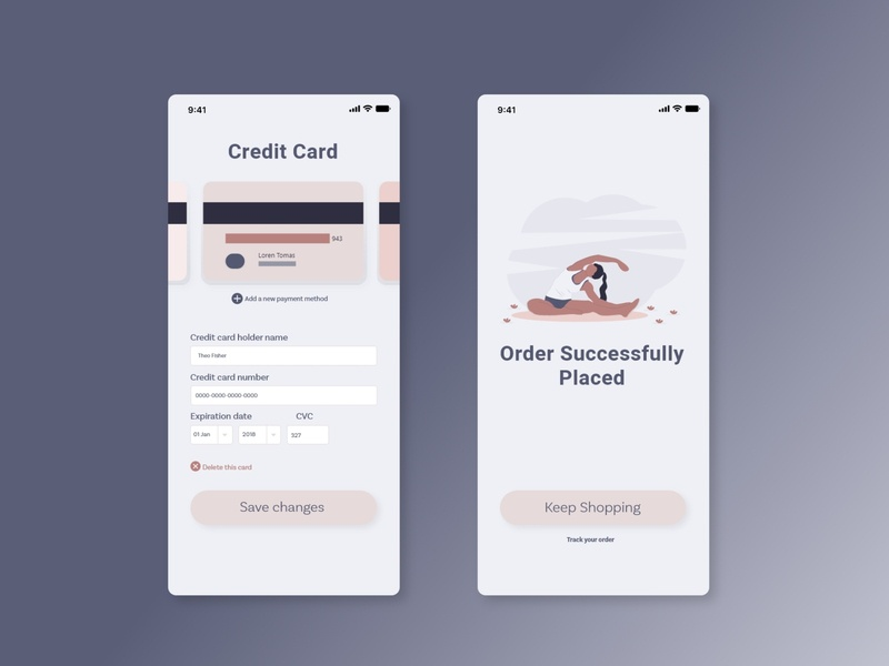 Credit Card Checkout ux ui design adobexd uidesign xd app