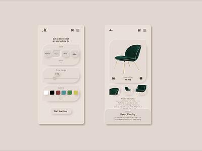 Daily UI 06   Settings monochromatic furniture dailyui adobexd xd uidesign