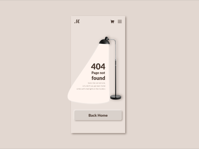 Daily UI 08   404 Page monochromatic furniture adobe dailyui app adobexd xd uidesign