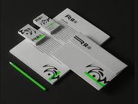 Branding Studio Double R vector illustration flat logo branding design
