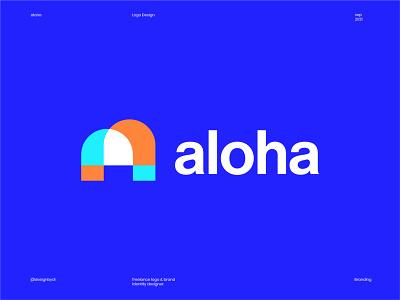 aloha logo design graphic design best logos modern logo minimal logo a logo letter a a lettermark logos logo identity icon branding brand identity