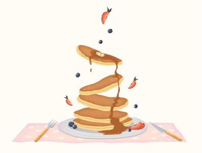 Pancakes pancake food illustration food vector design illustration