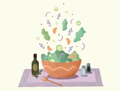Salad adobe illustrator salad flat vector illustration food illustration food design