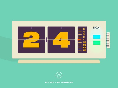 Vintage Flip Clock time geometric clock package vintage typography type packaging illustration avondaletypeco