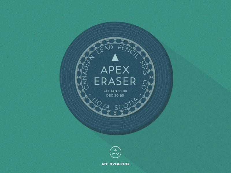 Vintage Eraser Canister emblem seal canister eraser package vintage typography type packaging geometric illustration avondaletypeco