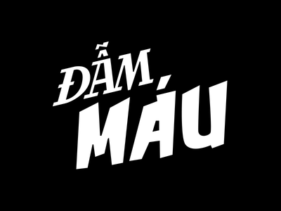 Gory illustration graffiti comic typography bloody vietnam lockup type logo mark