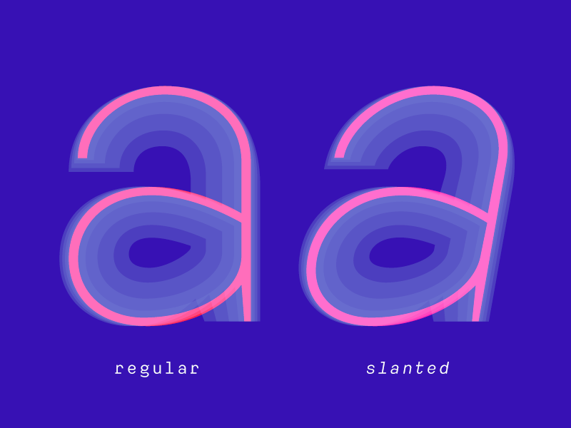 ATC Harris blue neon techy font minimal illustration monospace typography type