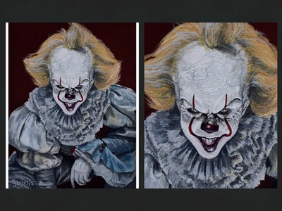 Pennywise horror it clown pennywise fanart illustration art