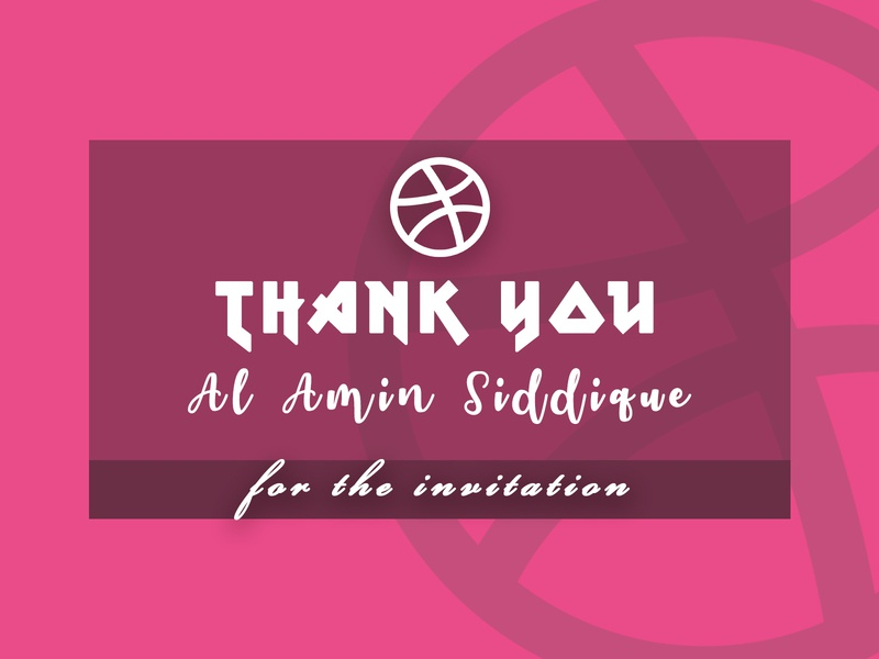 1st shot invitation design thank you pink typography design