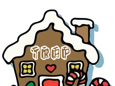 trap gingerbread house christmas gingerbread house illustration vector illustrator illustration art design