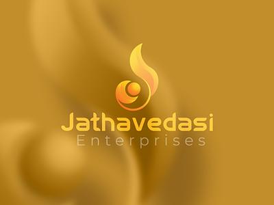 Jathavedasi enterprises logo branding