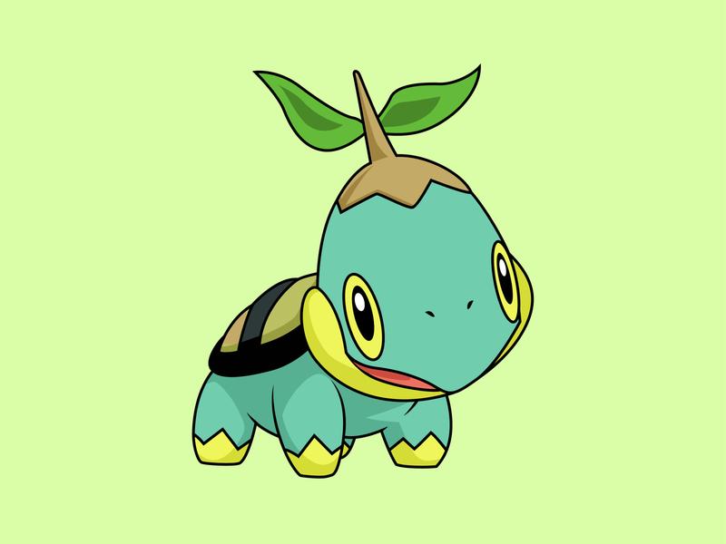 Shiny Turtwig Pokemon Go design logo illustration vector pokemon go turtwig turtle logo pokemon