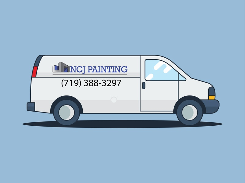 NCJ Painting Logo ui ux branding vector illustration design logo