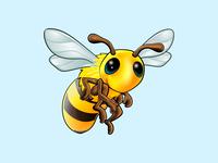 Bee Vector Art branding ui ux vector logo illustration design bee