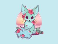 Summer Fox Baby follow like vector design illustration fox illustration fox logo logo cute baby fox