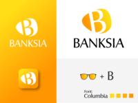 Banksia Logo made for Sunglasses brand abstract sunglasses design branding logo