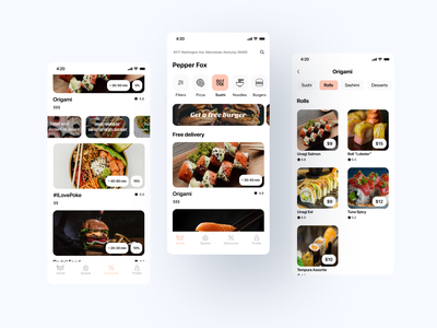 Food delivery app application food and drink delivery app delivery food app food app ux design
