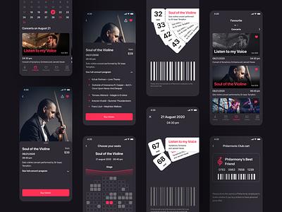 Philarmony Tickets | Mobile App philarmony ticket music orchestra culture ux ui design application app