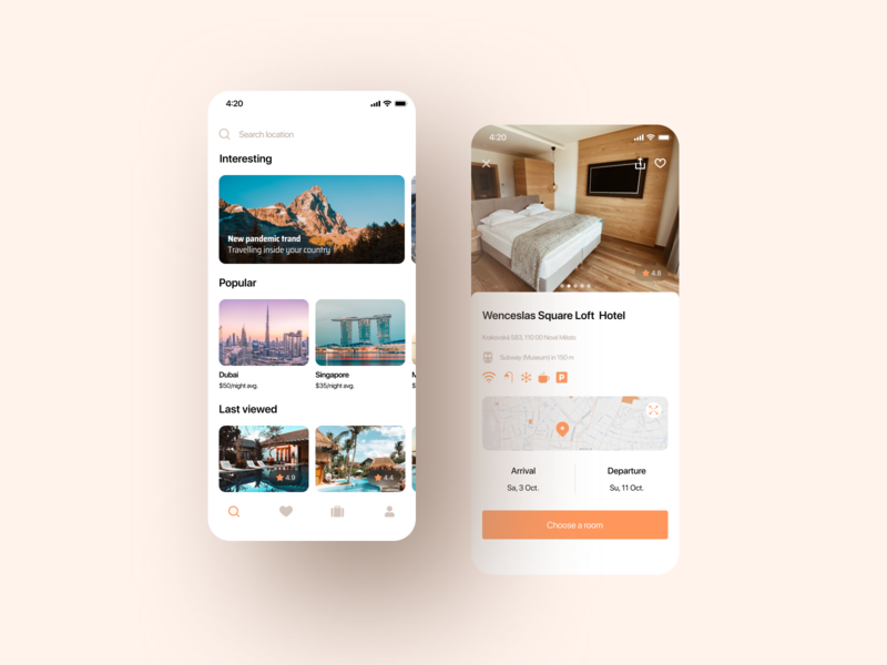 Hotel Booking | Mobile App hotel booking hotels hotel booking ticket ui design ux application app