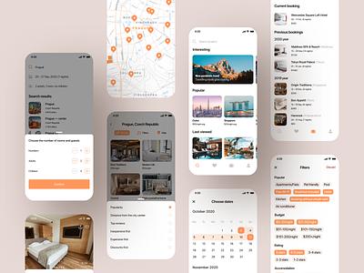 Hotel Booking | Mobile App (more screens)