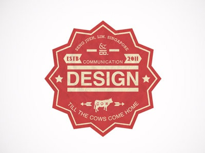 Comm Design typography type font logo icon design cows 2011 communication