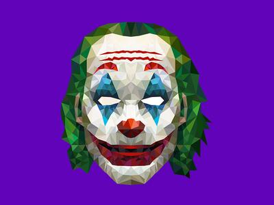 The Joker illustration scary horror joker movie movie geometric vectors illustration geometry joker thejoker