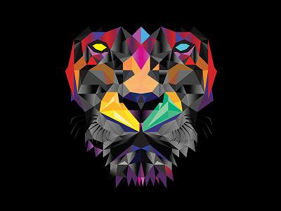 Neo Leo geomtric lion vector vectors illustration
