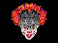 Dribble   IT Clown geometric vectors illustration clown horrormovie horror