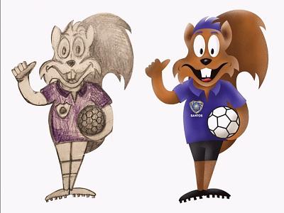 Mascot development cartoon illustration procreate mascot