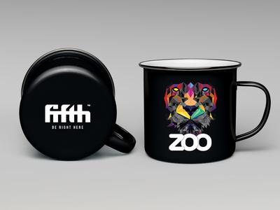 Zoo Club Night Merchandise - ENAMEL MUG