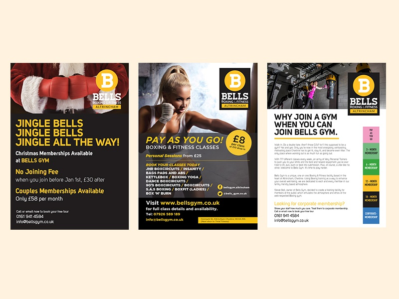 Bells Gym Posters/Leaflets by Suzanne on Dribbble