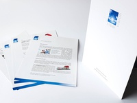 Clear Vision logo and folder design