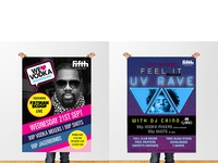 Night Club Poster - Fatman Scoop and UV RAVE at Fifth Nightclub