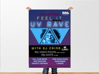 Night Club Poster - UV RAVE at Fifth Nightclub