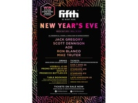 Poster - New Years Even Night Club line up