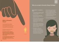 Brochure for a Domestic Abuse public awareness campaign