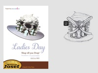 Poster design for a ladies day promotion