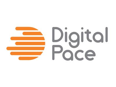 Digital Pace Logo typography vectors logo design printing branding design graphic design vector logo