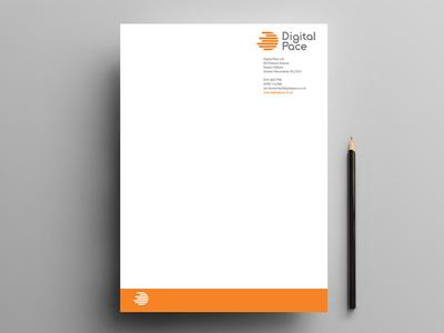 Digital Pace logo design typography vector geometric logo design design logo illustration printing graphic design branding