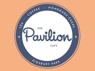 Pavilion Cafe Logo charity vectors design logo design printing logo graphic design branding
