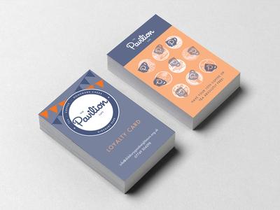Pavilion Cafe Loyalty Cards nightclub typography vectors design geometric logo design illustration logo printing graphic design vector branding