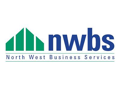 NWBS logo design (North West Business Service) typography vector poster geometric vectors design logo illustration logo design printing graphic design branding